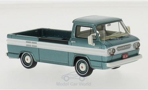 Chevrolet Corvair 1/43 Neo Pick Up metallise turquoise/blanche 1963 miniature