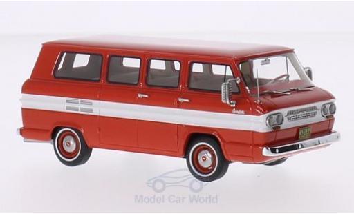 Chevrolet Corvair 1/43 Neo Window Van rouge/blanche 1963 miniature