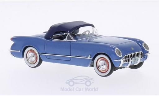 Chevrolet Corvette C1 1/43 Neo  metallise bleue 1953 Verdeck geschlossen miniature