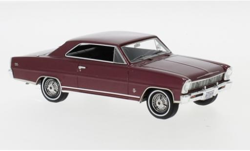 Chevrolet Nova 1/43 Neo SS Hardtop metallise red 1966 diecast model cars