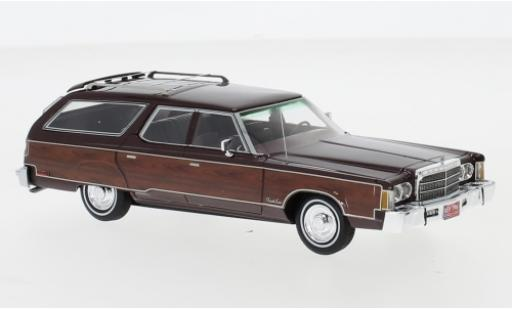 Chrysler Town & Country 1/43 Neo metallise rouge/Holzoptik 1976 miniature