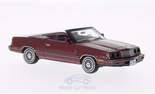 Dodge 600 1/43 Neo Convertible metallic-dunkelrouge 1984 miniature