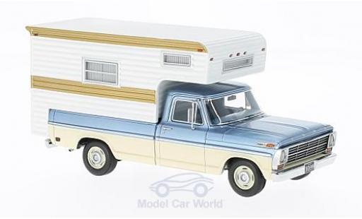 Ford F-1 1/43 Neo 00 metallic-hellbleue/beige 1968 Camper miniature