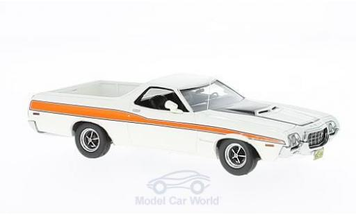 Ford Ranchero 1/43 Neo GT blanche/orange 1972 miniature