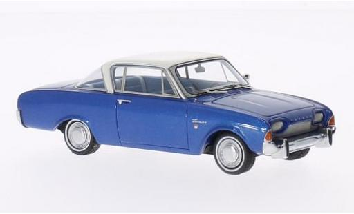 Ford Taunus 1/43 Neo 17M P3 Coupe metallise bleue/blanche 1962 miniature