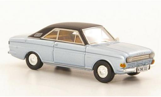 Ford Taunus 1/87 Neo P6 15M Coupe metallise blue/black 1968 diecast model cars