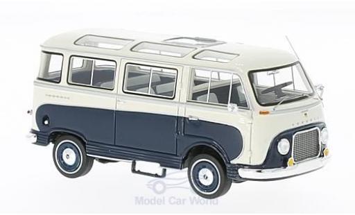 Ford Taunus 1962 1/43 Neo Transit dunkelbleue/blanche 1962 Panoramabus miniature