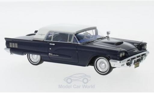 Ford Thunderbird 1/43 Neo Hardtop metallise bleue/blanche 1960 miniature