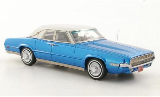 Ford Thunderbird 1/43 Neo Landau metallise blue/matt-white 1969 diecast model cars