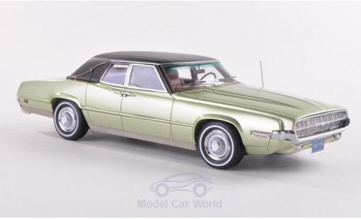 Ford Thunderbird 1969 1/43 Neo Landau metallise verte/matt-noire miniature
