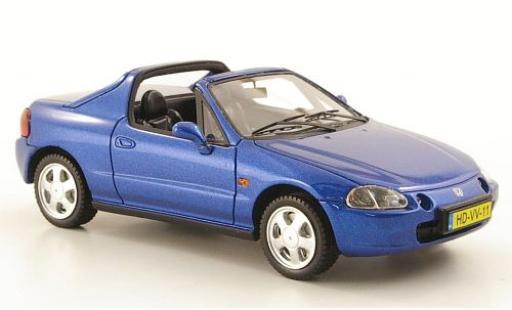 Honda CRX 1/43 Neo del Sol metallise bleue 1992 miniature