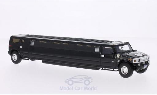 Hummer H2 1/43 Neo Stretchlimousine noire miniature