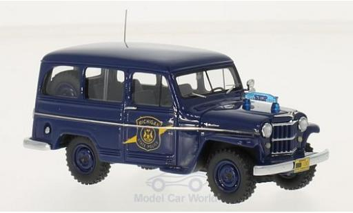 Jeep Willys 1/43 Neo Station Wagon Michigan State Police 1954 miniature