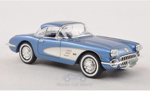 Chevrolet Corvette C1 1/43 Neo Limited 300  Hardtop metallise blue/white 1959 diecast model cars
