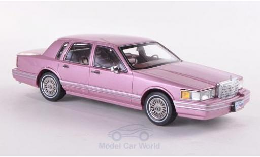 Lincoln Town Car 1/43 Neo Limited 300 metallise rose 1990 miniature
