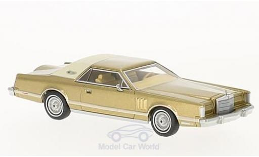 Lincoln Continental 1/64 Neo Mark V gold/beige 1977 miniature