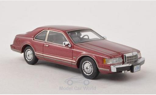 Lincoln Continental 1/43 Neo Mark VII LSC metallic-dunkelrouge 1984 miniature