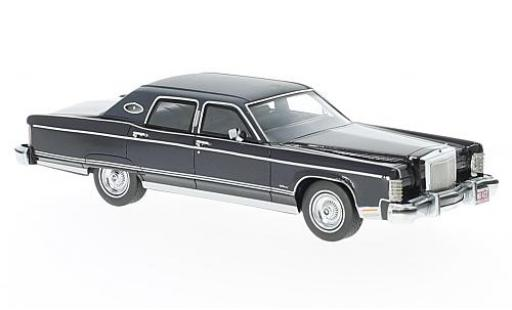 Lincoln Continental 1/43 Neo Town Car metallise bleue 1977 miniature