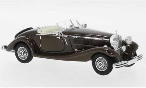 Mercedes 290 1/43 Neo Roadster (W18) brown 1937 diecast model cars