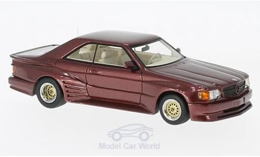 Mercedes 500 SEC 1/43 Neo Koenig Specials metallise rouge miniature