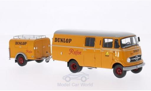 Mercedes L319 1/43 Neo Dunlop 1961 mit Ein-Achs-Anhänger ohne Vitrine miniatura