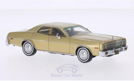Plymouth Fury 1/43 Neo 4-Door Sedan gold 1977 miniature