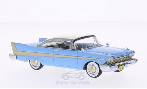 Plymouth Fury 1/43 Neo Hardtop hellbleue/blanche 1958 miniature