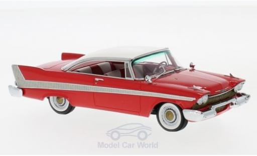 Plymouth Fury 1/43 Neo Hardtop rouge/blanche 1958 miniature