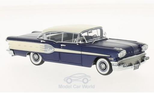 Pontiac Star Chief 1/43 Neo 4-Door Sedan metallise bleue/blanche 1958 miniature