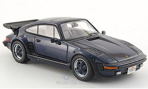 Porsche 930 Turbo 1/43 Neo SE Flatnose metallise blue 1987 diecast model cars
