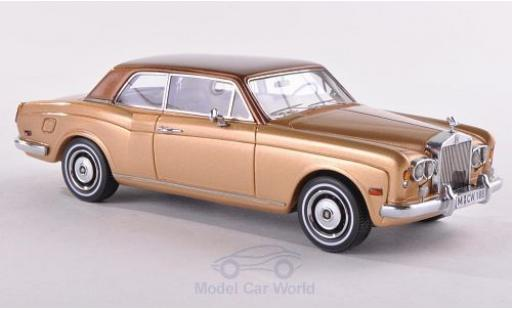 Rolls Royce Corniche 1/43 Neo FHC gold/metallic-marron 1971 miniature