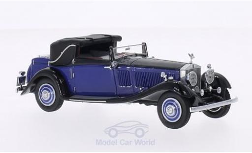 Rolls Royce Phantom 1/43 Neo II Continental DHC Gurney Nutting bleue/noire RHD miniature