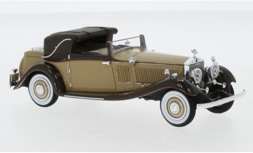 Rolls Royce Phantom 1/43 Neo II Continental DHC Gurney Nutting brown/brown RHD 1934 diecast model cars