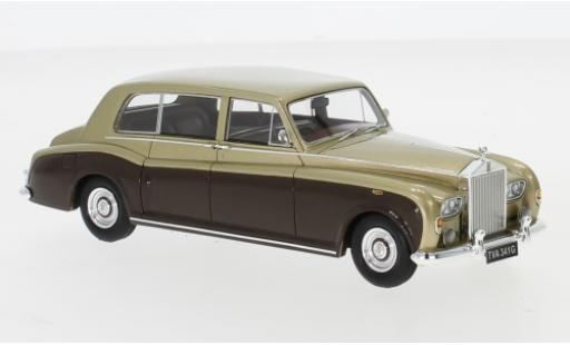 Rolls Royce Phantom 1/43 Neo VI EWB gold/marron RHD 1968 miniature