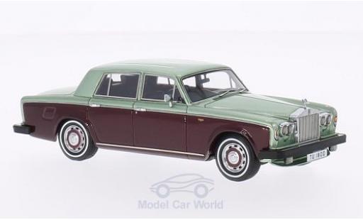 Rolls Royce Silver Shadow 1/43 Neo II metalico verde/metalico rojo RHD 1978 miniatura