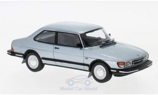 Saab 90 1/43 Neo metallic-hellbleue 1985 miniature