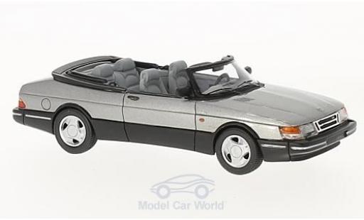 Saab 900 1987 1/43 Neo Cabriolet metallise grise miniature