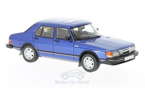 Saab 900 1/43 Neo GLi metallise bleue 1981 miniature