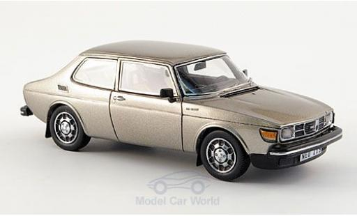 Saab 99 1/43 Neo EMS metallise grise 1977 miniature