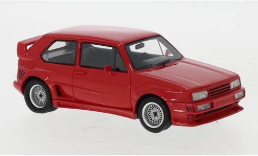 Volkswagen Golf 1/43 Neo I Rieger GTO rojo coche miniatura