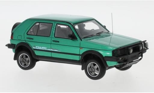 Volkswagen Golf 1/43 Neo II Country metallise green 1990 diecast model cars