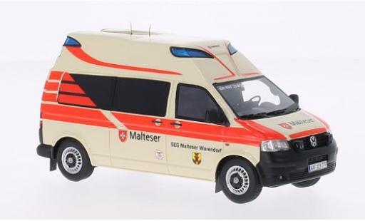 Volkswagen T5 1/43 Neo Hornis Ambulanz Malteser 2010 SEG maltais Warendorf modellautos