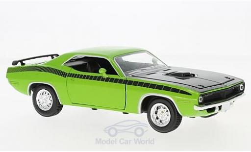 Plymouth Cuda 1/18 New Ray verte/noire 1970 miniature