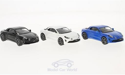 Alpine A110 1/43 Norev Renault Premiere Edition 3er-Set metallise blue/metallise white 2017 diecast model cars
