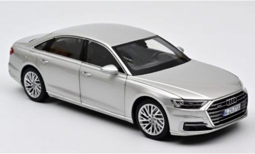 Audi A8 1/18 Norev L (D5) grise 2018 miniature