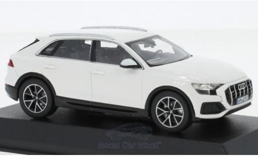 Audi Q8 1/43 Norev white 2018 diecast model cars