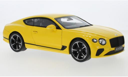Bentley Continental 1/18 Norev GT yellow 2018 diecast model cars