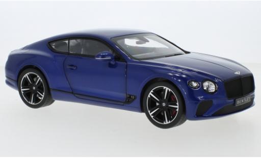 Bentley Continental 1/18 Norev GT metallise blue 2018 diecast model cars