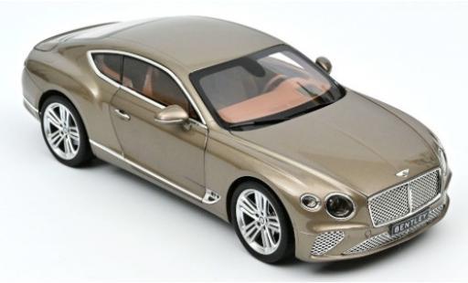 Bentley Continental 1/18 Norev GT metallise beige 2018 diecast model cars