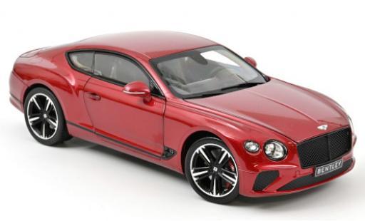 Bentley Continental 1/18 Norev GT metallise red 2018 diecast model cars